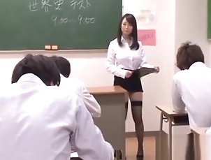 Asian,Big Tits,Blowjob,Stockings,Japanese,Straight Oriental Teacher Gets Her Pussy...