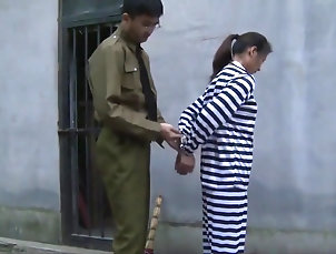 Asian,BDSM,Chinese,Fetish,HD,Mature,Outdoor,Straight Chinese Prison Girl in Metal Bondage