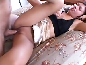 Asian,Brunette,Interracial,Hardcore,Straight Cheating brunette housewife meets her...