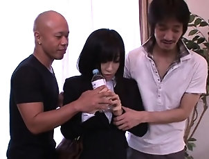 Anal,Asian,Double Penetration,Japanese,Threesome Horny chap gives moist cunnilingus...