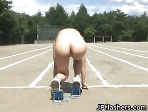 Amateur,Asian,Big Boobs,Japanese,Outdoor,Public,Reality Asian amateur in nude track and field