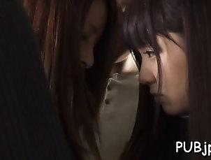 Asian,Babe,Blowjob,Brunette,Hardcore,Japanese,Public Horny passenger manhandles super...