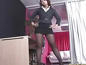 Secretaries,Secretaries Asian Secretary Shows Off Her Legs in...