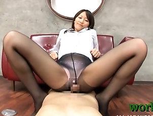 Asian,Hardcore,Japanese,Milf,Nylon Office wench sucks dick hard