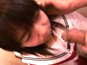 Amateur,Facial,Japanese,POV,Uniform Adorable Japanese schoolgirl worships...