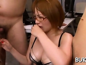 Asian,Blowjob,Group Sex,Hardcore,Japanese Young asian doll gets schlong in...
