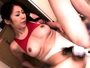 Asian,Blowjob,Fingering,Hairy,Panties,Toys Miniature japanese seductress enjoys...