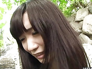 Asian;Japanese Adorable Asian brunette rubbing her...